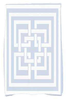 Simply Daisy, 16 x 25 Inch, Greek New Key, Geometric Print Kitchen Towel, Blue