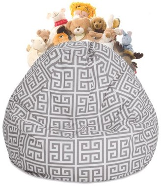Majestic Home Goods Towers Stuffed Animal Storage Bean Bag Chair Cover w/ Transparent Mesh Base, Multiple Colors