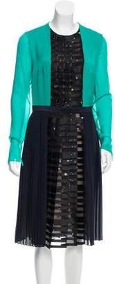 Vionnet Pleated Midi Dress w/ Tags