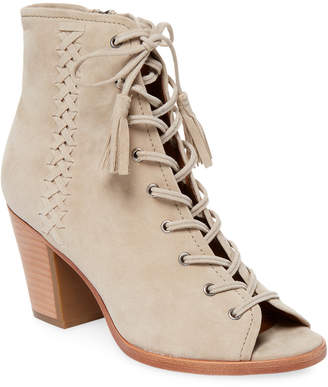 Frye Dani Whipstitch Lace Leather Bootie