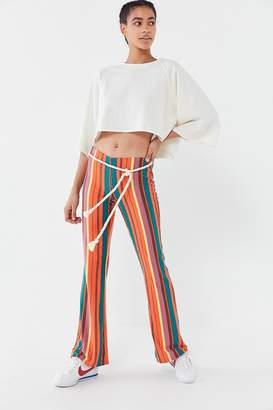 Urban Outfitters Bali Striped Low-Rise Flare Pant