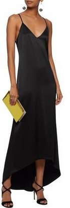 Alice + Olivia Alice+olivia Asymmetric Satin Slip Dress