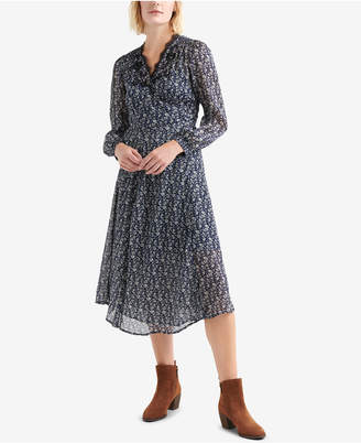 Lucky Brand Printed Wrap Dress