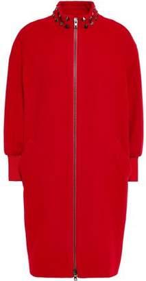 Love Moschino Studded Wool-blend Felt Coat