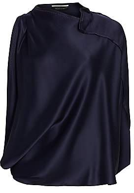 Roland Mouret Women's Hopkins Asymmetric Draped Top