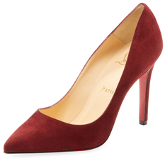 Christian Louboutin  Pigalle Suede Pointed-Toe Pump