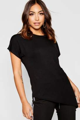 boohoo Basic Asymmetric T-shirt