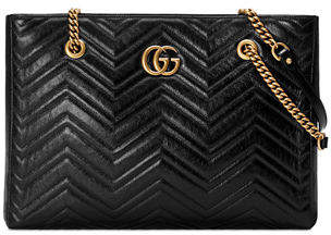 Gucci GG Marmont Medium Quilted Leather Shoulder Tote Bag