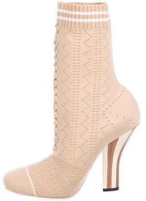 Fendi 2017 Knit Mid-Calf Boots