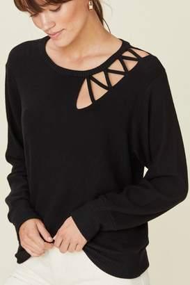 LnA Brushed Transverse Sweater