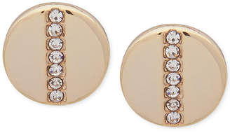 DKNY Gold-Tone Pave Stud Earrings