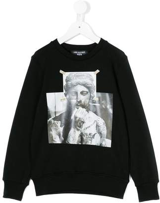 Neil Barrett Kids tattooed statue print sweatshirt