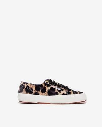 Express Superga Velvet Leopard Sneakers