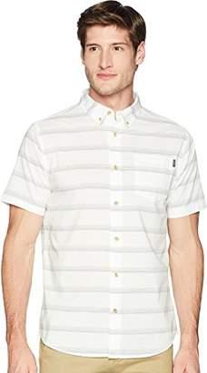 O'Neill Men's Standard Fit Stripe Short Sleeve Stretch Woven Shirt