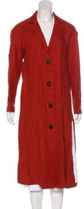 Simon Miller Long Sleeve Linen Coat