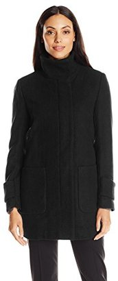 Kenneth Cole Women's Wool Coat with Front Pockets $100.50 thestylecure.com