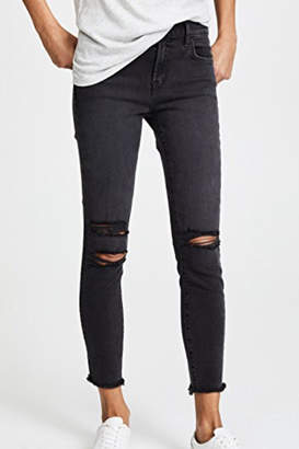 J Brand Distressed Black Superskinny