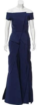 J. Mendel Off-The-Shoulder Evening Dress