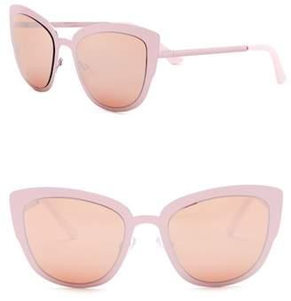 Steve Madden 50mm Metallic Cat Eye Sunglasses