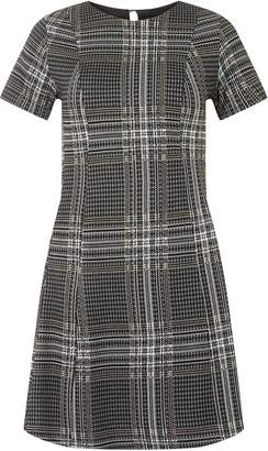 21c2d7b0af9 Dorothy Perkins Womens Grey Checked Jersey Fit And Flare Dress