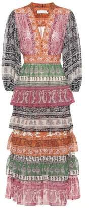 Zimmermann Amari cotton and silk midi dress