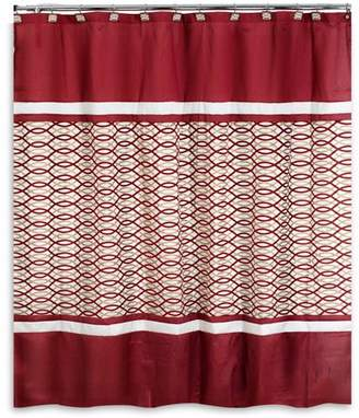 Harmon Popular Bath Burgundy Shower Curtain