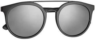 Burberry Eyewear Top Bar Round Frame Sunglasses