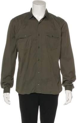 Prada Solid Button-Up Dress Shirt