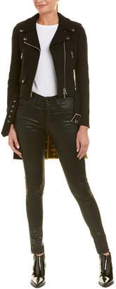 Moschino Wool-Blend High-Low Hem Jacket