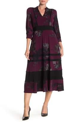 Taylor Lattice Jersey Midi Dress
