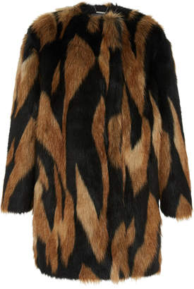 Givenchy Animal-Print Faux Fur Coat