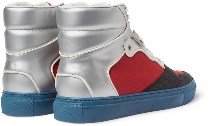 Balenciaga Panelled High Top Sneakers