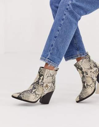 Steve Madden Uno Snake Western Heeled Boot
