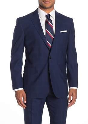 Brooks Brothers Dark Blue Plaid Two Button Notch Lapel Regent Fit Suit Separates Jacket