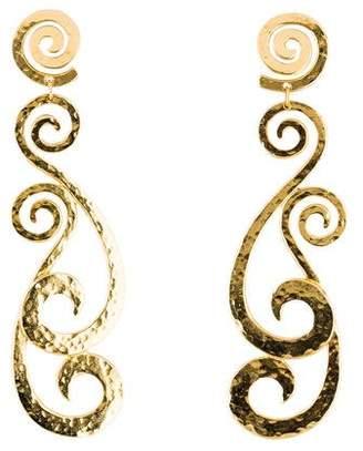 Ben-Amun Ben Amun Helen of Troy Swirl Clip-On Earrings