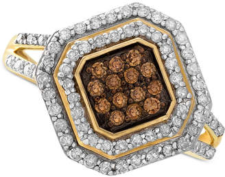Wrapped in Love White and Brown Diamond Ring in 14k Gold (1/2 ct. t.w.)
