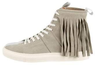 Daniel Patrick Suede High-Top Sneakers