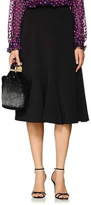 Barneys New York Women's Twill Flounce-Hem Skirt - Black