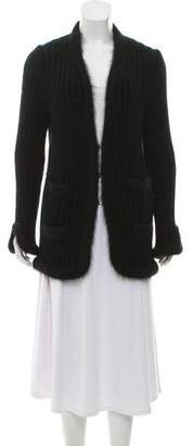 Chanel Angora V-Neck Cardigan