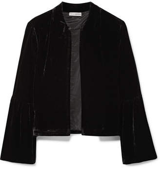 Ulla Johnson Mara Cropped Velvet Jacket - Black
