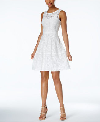 Tommy Hilfiger Lace Sleeveless A-Line Dress $139 thestylecure.com