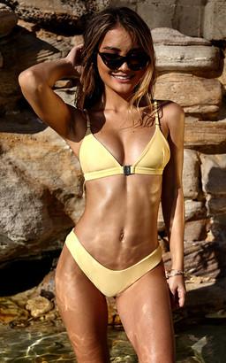 Showpo Low Down Bikini Bottom in Lemon - 14 (XL) Bikini Sets