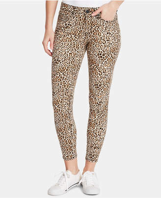 William Rast Animal-Print Ankle Skinny Jeans