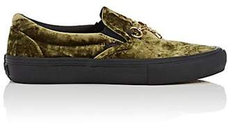 b5de536e3d5 Vans Women s Crushed Velvet Slip-On Sneakers - Green