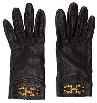 Hermes Embellished Vintage Leather Gloves