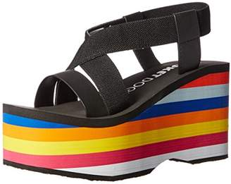 Rocket Dog Women's Bayer Webbing/Smooth Pu W/Rainbow Eva Wedge Sandal