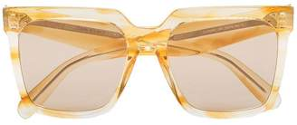 Celine gold tone square cat eye sunglasses