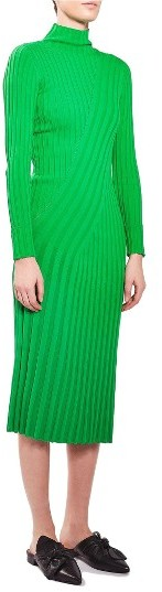 Women's Topshop Boutique Directional Ribbed Midi Dress 4