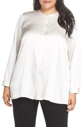 Eileen Fisher Stretch Silk Shirt