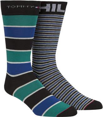 Tommy Hilfiger Men's 2-Pk. Striped Socks